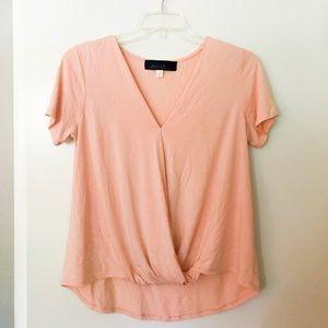 Blue Rain pink wrap blouse
